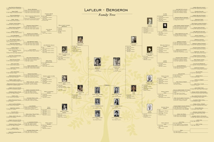 Lafleur - Bergeron 7 Generation Family Tree